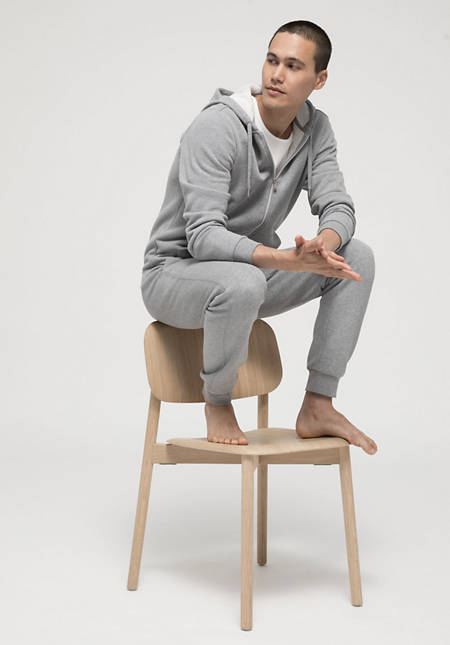 Sweat jacket made from pure organic cotton