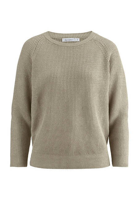 Sweater made from pure organic linen