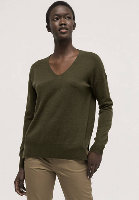 Sweater made of organic virgin wool with cashmere