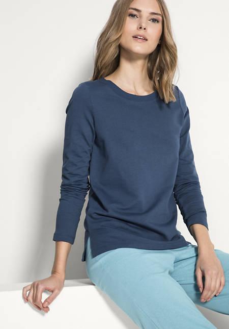 Sweatshirt aus Baumwolle mit Kapok