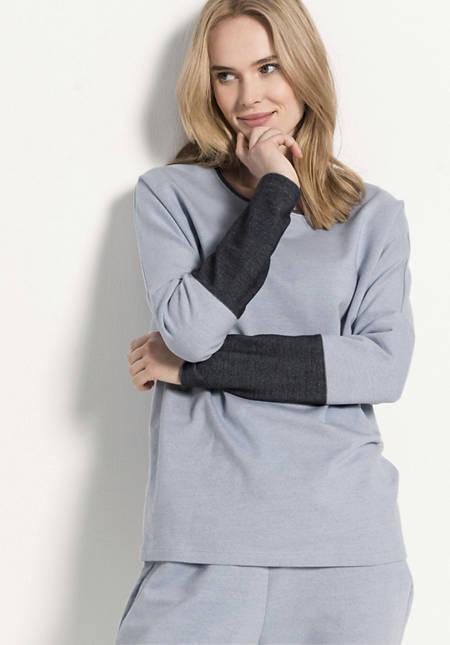 Sweatshirt aus Bio-Baumwolle mit Elasthan