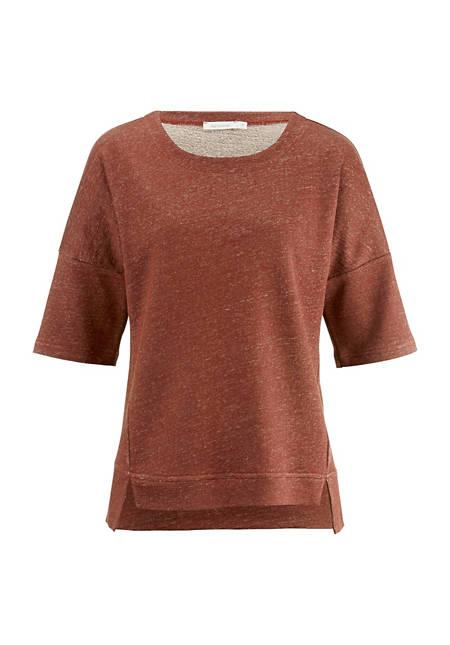 Sweatshirt aus Leinen mit Bio-Baumwolle