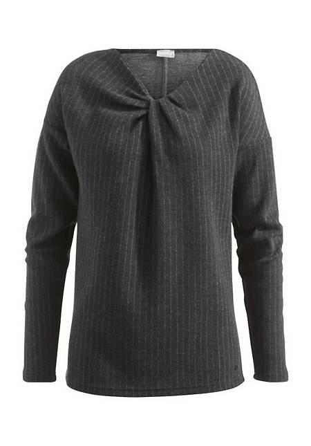 Sweatshirt aus Schurwolle mit Bio-Baumwolle