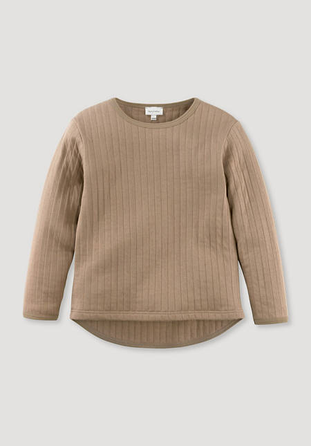 Sweatshirt mit Stepp-Optik aus reiner Bio-Baumwolle