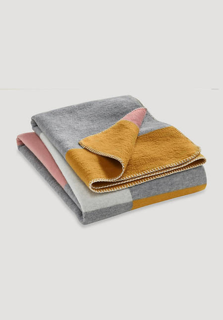 Tahata velor blanket made from pure organic cotton