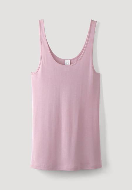 Tank shirt made of silk with organic cotton