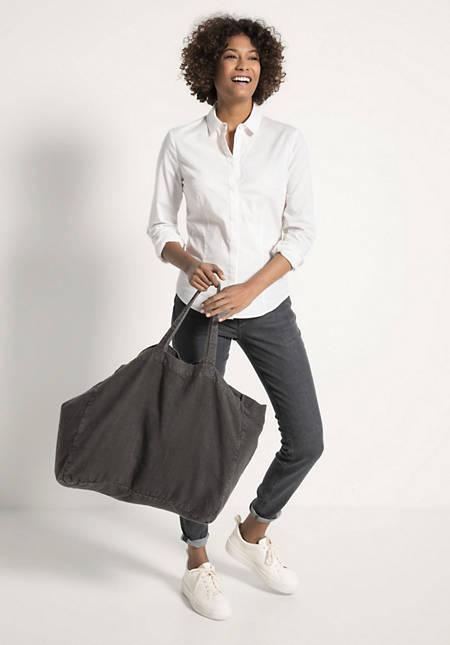 Tasche Shopper groß aus reinem Leinen