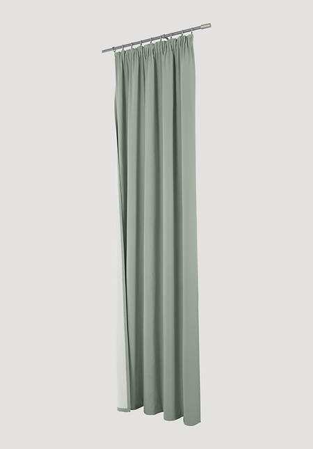 Thermal curtain Neveres with pleated tape made of pure organic cotton