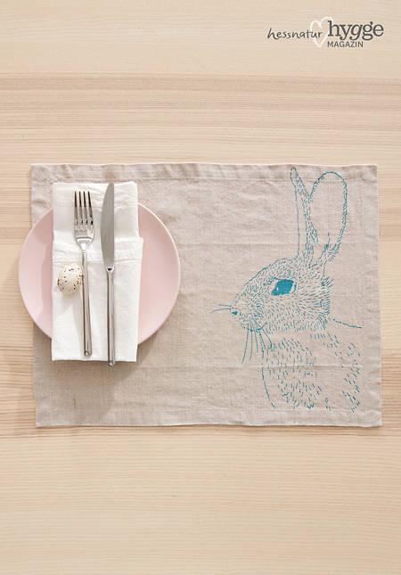 Tischset Jänis aus reinem Leinen