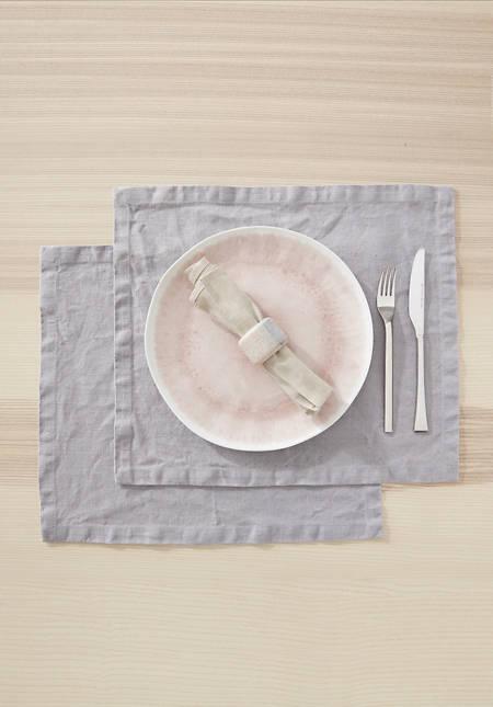 Tischset im 2-er Set aus reinem Leinen