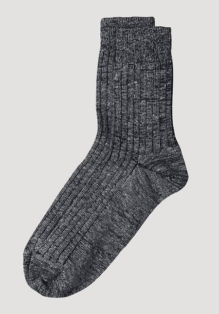 Trekking socks made of organic merino wool with linen