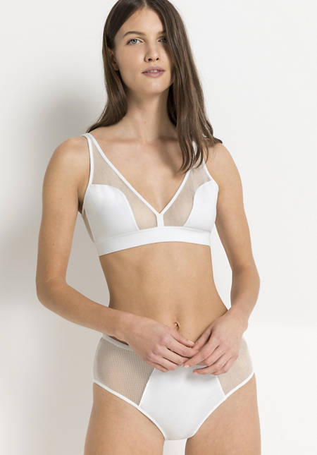 Triangle bra made of organic cotton