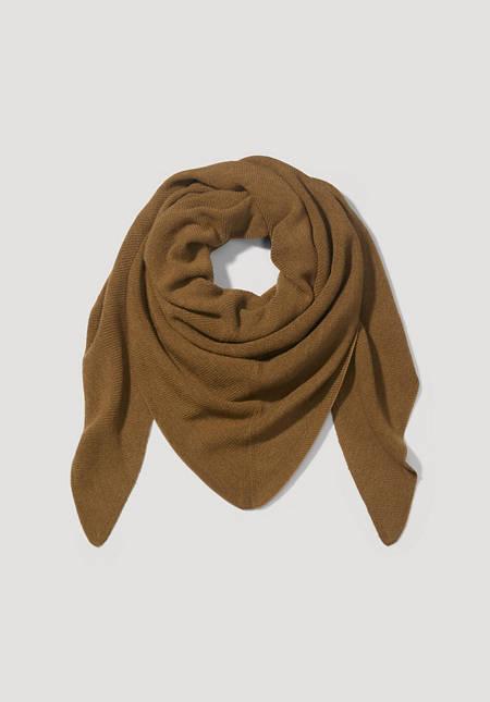 Triangle scarf made of pure alpaca