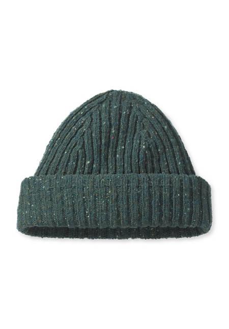 Tweed-Mütze aus reiner Schurwolle