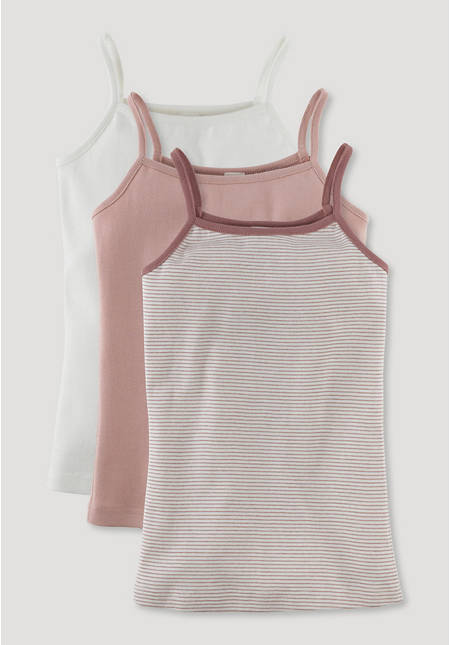 Undershirt made of pure organic cotton in a set of 3