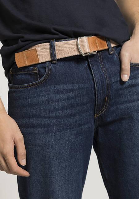 Unisex Gürtel aus Bio-Baumwolle mit Leder
