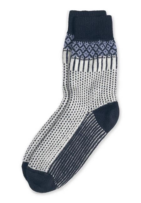Unisex Norweger-Socke aus reiner Bio-Merinowolle
