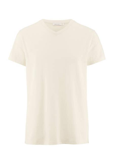 V-Shirt aus Bio-Baumwolle und Merinowolle