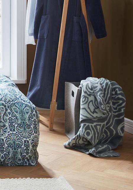 Velours-Decke Indira aus reiner Bio-Baumwolle