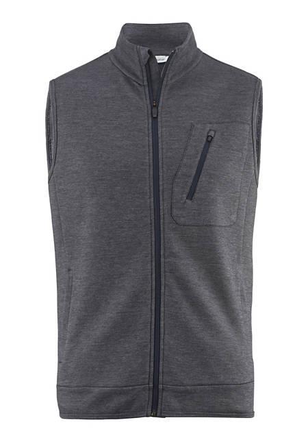 Vest made of organic merino wool with organic cotton