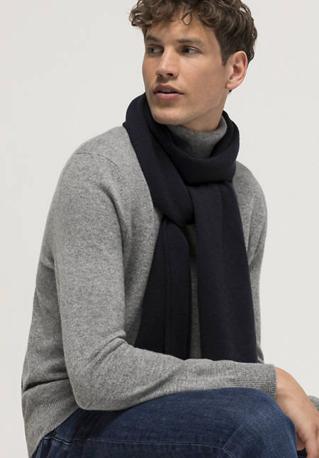 Virgin wool scarf with cashmere
