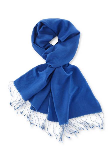 Virgin wool scarf with silk