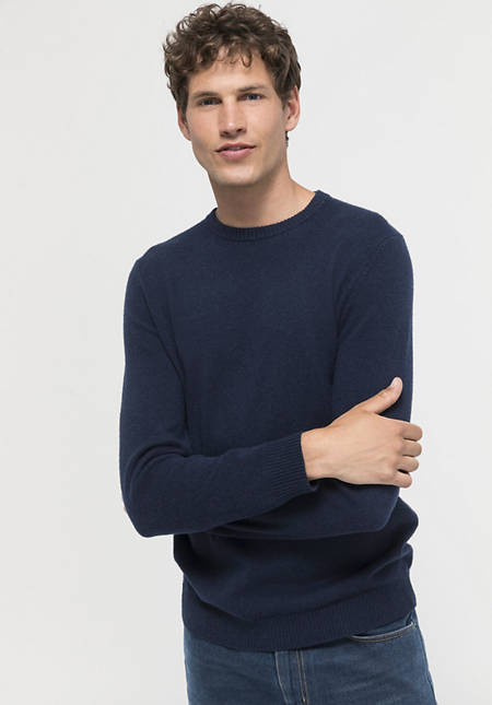Virgin wool sweater with cashmere