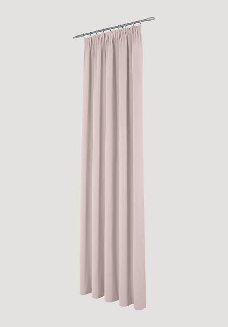 Vorhang Neveres mit Faltenband aus reiner Bio-Baumwolle