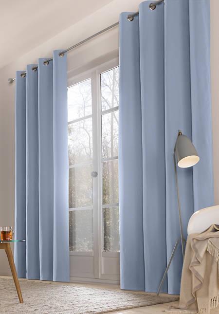 """Vorhang """"Neveres"""" mit Ösen aus reiner Bio-Baumwolle"""