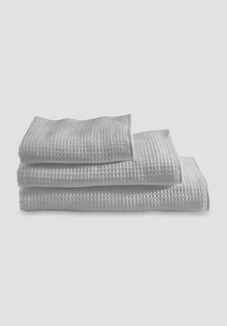 Waffelpiqué-Tuch aus reiner Bio-Baumwolle