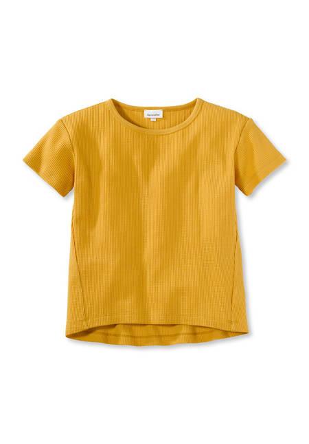 Waffle piqué shirt made from pure organic cotton