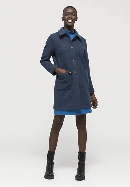 Walk coat made of pure organic merino wool