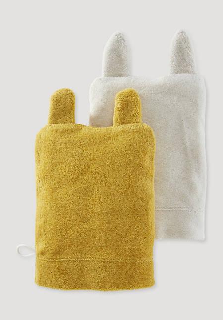 Waschhandschuh 2er-Pack aus reiner Bio-Baumwolle
