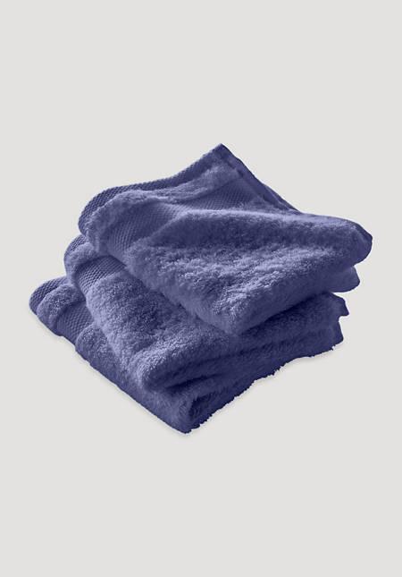 Waschlappen im 3er-Pack aus reinem Bio-Frottee