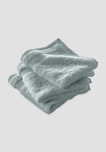 Washcloths in a set of 3 made from pure organic terrycloth