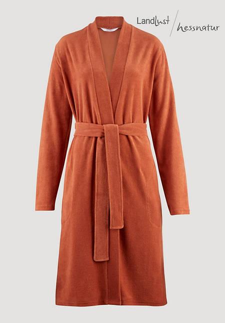 Wellness bathrobe made from pure organic terry jersey
