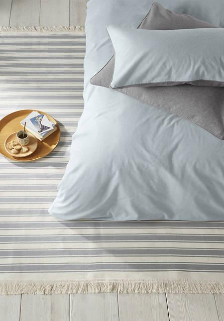 Wendeteppich Streifen aus reiner Bio-Baumwolle