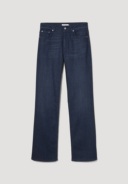 Wide leg flared jeans made from BetteRecycling organic denim