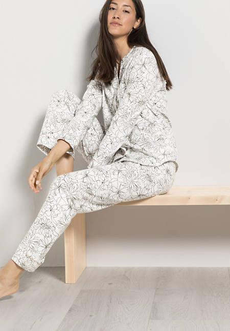 Winter-Pyjama aus reiner Bio-Baumwolle