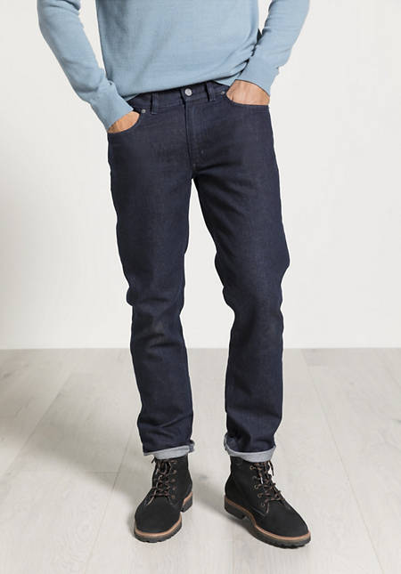Wolldenim-Jeans Straight Fit aus Bio-Baumwolle mit Schurwolle
