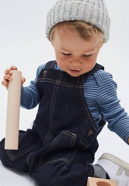 Wolldenim Latzhose aus Bio-Baumwolle mit Schurwolle