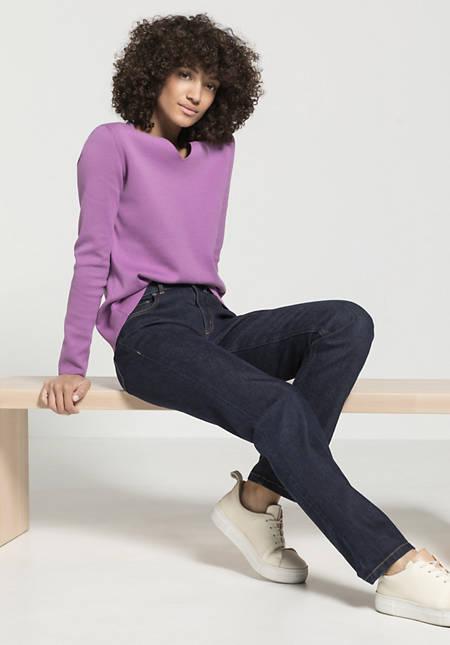 Wolldenim Straight Fit aus Bio-Baumwolle mit Schurwolle