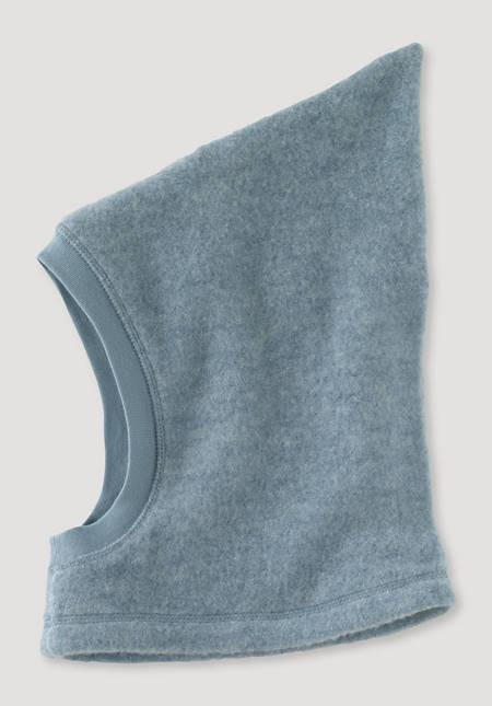 Wool fleece hat made from pure organic merino wool