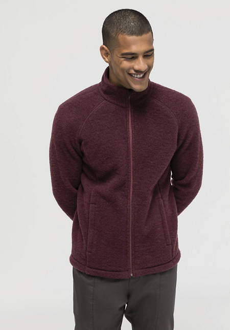 Wool fleece jacket