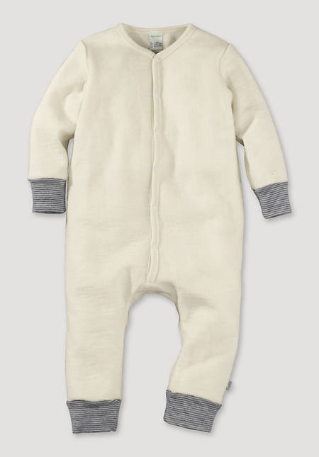 Wool terry overall made from pure organic merino wool