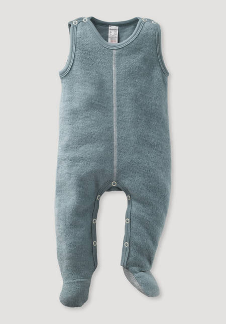 Wool terry romper made of pure new wool