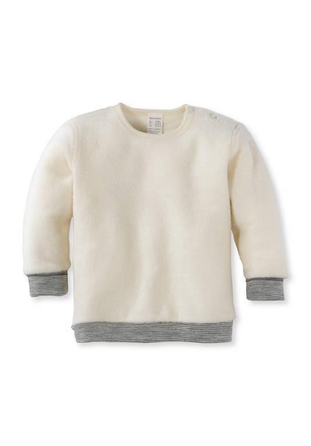 Wool terry shirt made from pure organic merino wool