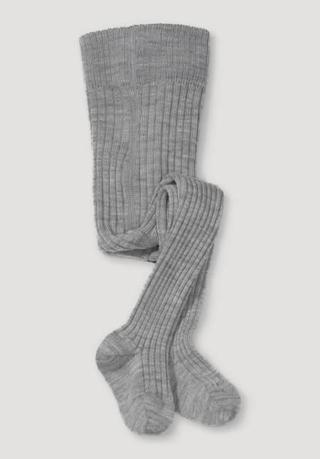 Wool tights made from organic merino wool with organic cotton