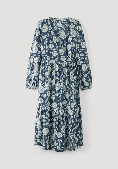 Wrap dress made of pure organic cotton