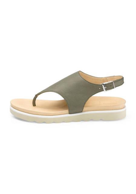 Zehentrenner-Sandalette aus Leder